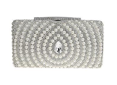 710fdce202 Ankoee Élégant Perlé Sac de Soirée Pochette Sacs à Main Soir Pochettes Sac  Embrayage Femme Perles