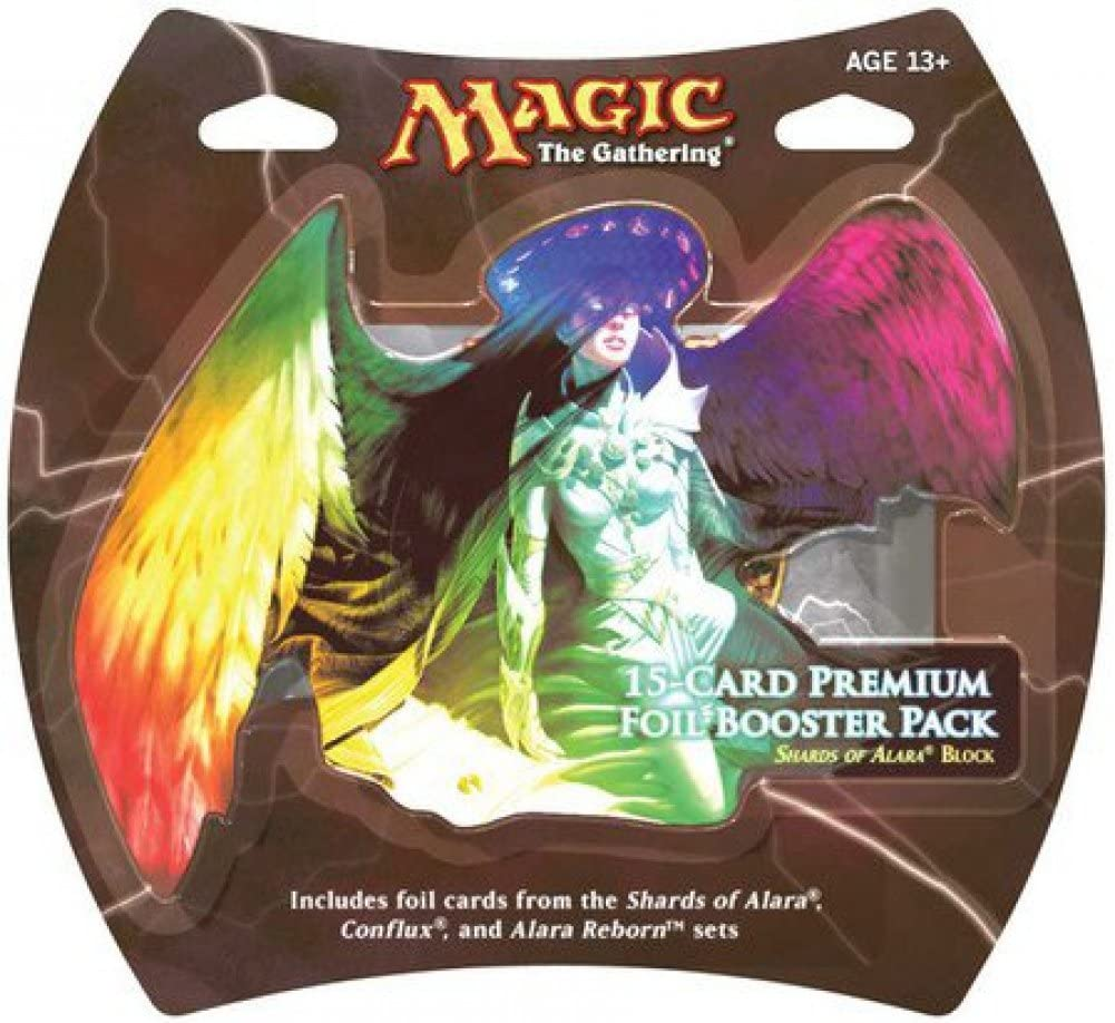 1 Pack of Magic the Gathering MTG Shards of Alara Premium Foil Booster Pack 15 Foil Cards Wizards of the Coast Alara Foil Pack