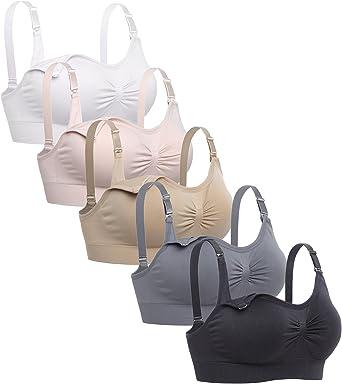 Lataly Womens Sleeping Nursing Bra Wirefree Breastfeeding Maternity Bralette  Pack of 5 at Amazon Women's Clothing store