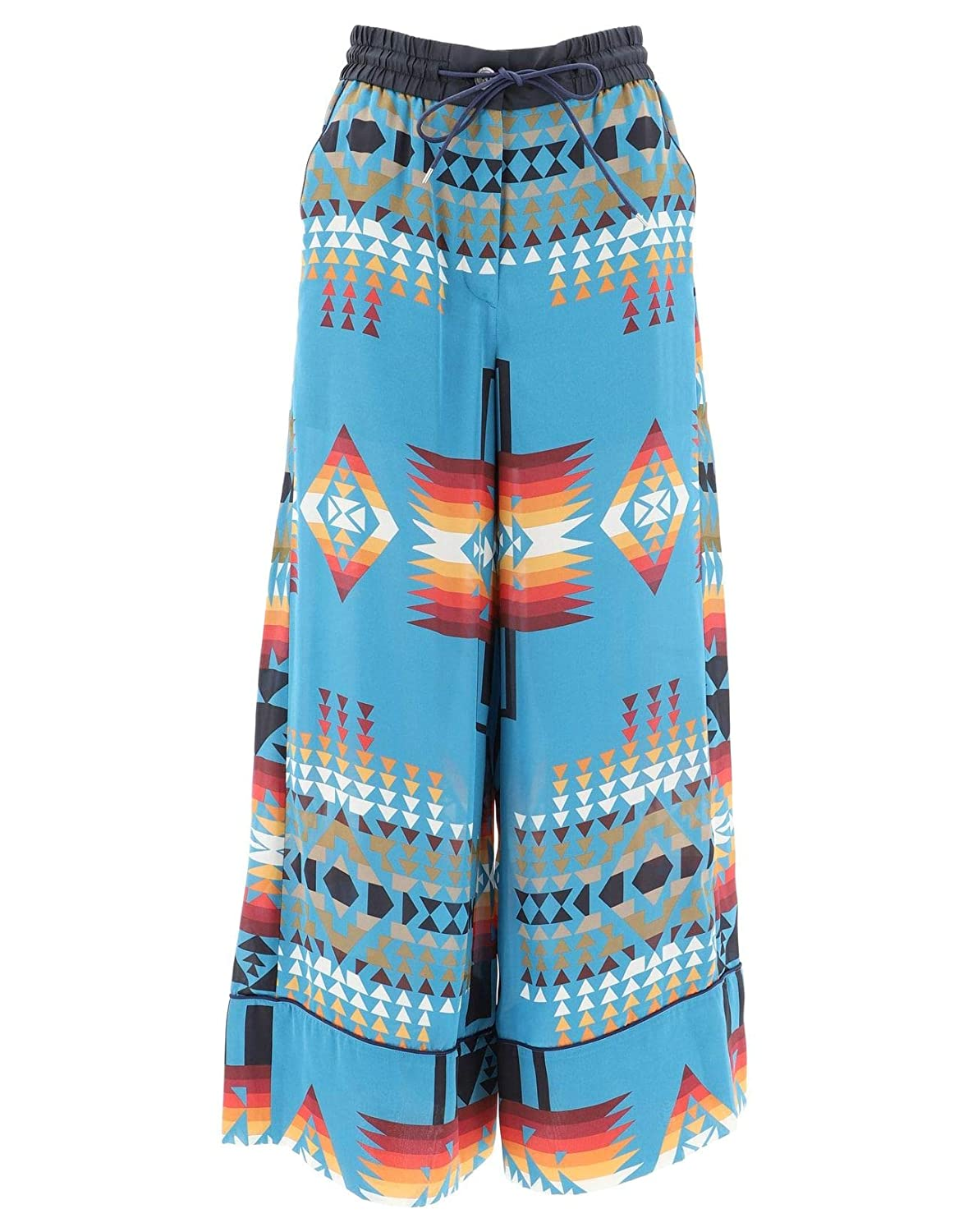 Sacai Women's 1904238TURQUOISE497 Multicolor Polyester Pants