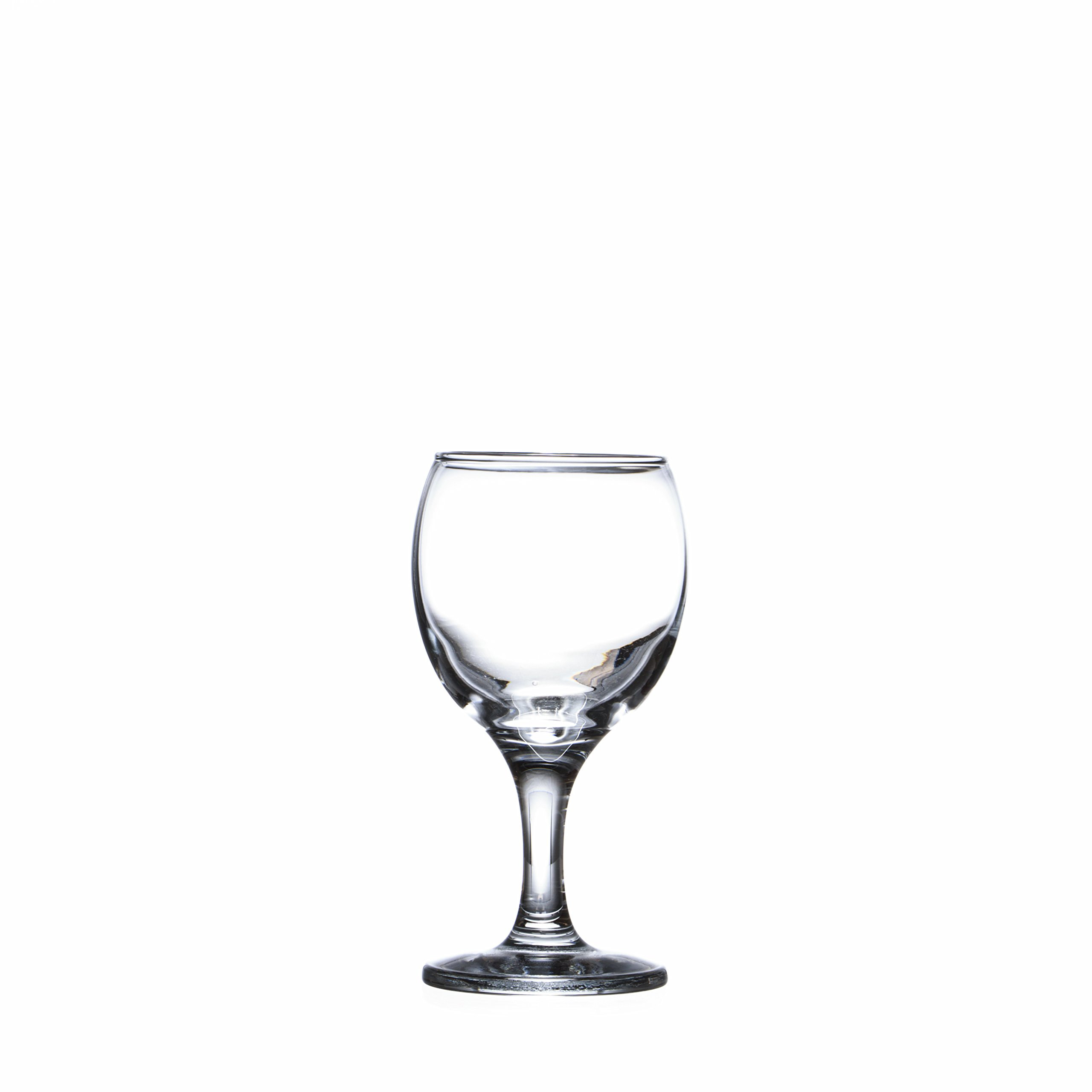 BISTRO 12-piece Wine Glasses Set (in 3 size), White, Red and Liquor Wine, Restaurant&Bar Quality, Durable Tempered Glass, Heavy Base, t.m. Pasabache (7 1/2 oz) by Pasabache (Image #5)