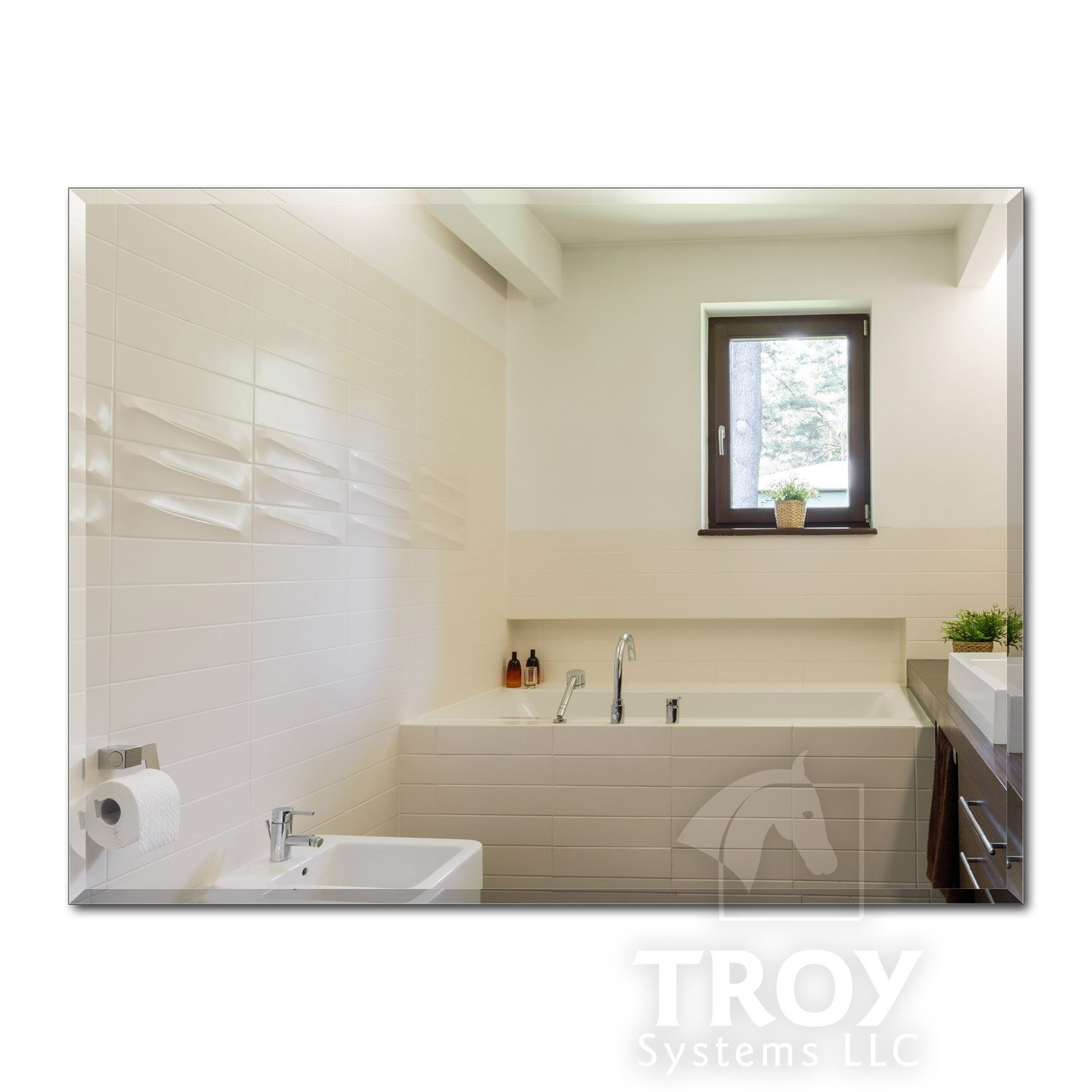 TroySys Rectangle Beveled Polished Mirror 1/4 Thick