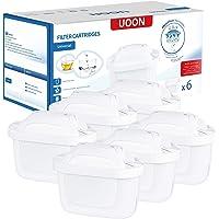 UOON 6 Cartuchos Filtros de Agua Compatible con Jarra BRITA MAXTRA+ de Color Blanco Filtros para el Agua que Reducen la…