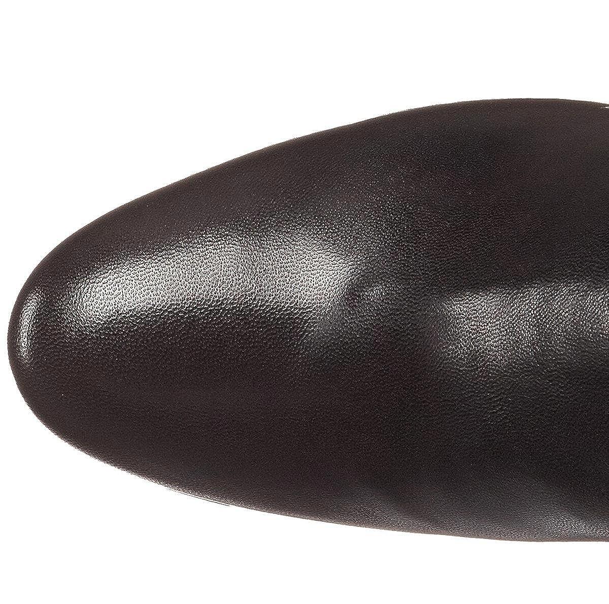 Stivaletti da Donna Stivali Stivali Stivali Chunky Elasticizzati in Pelle Scamosciata con Tacco Largo Elasticizzati 65809b