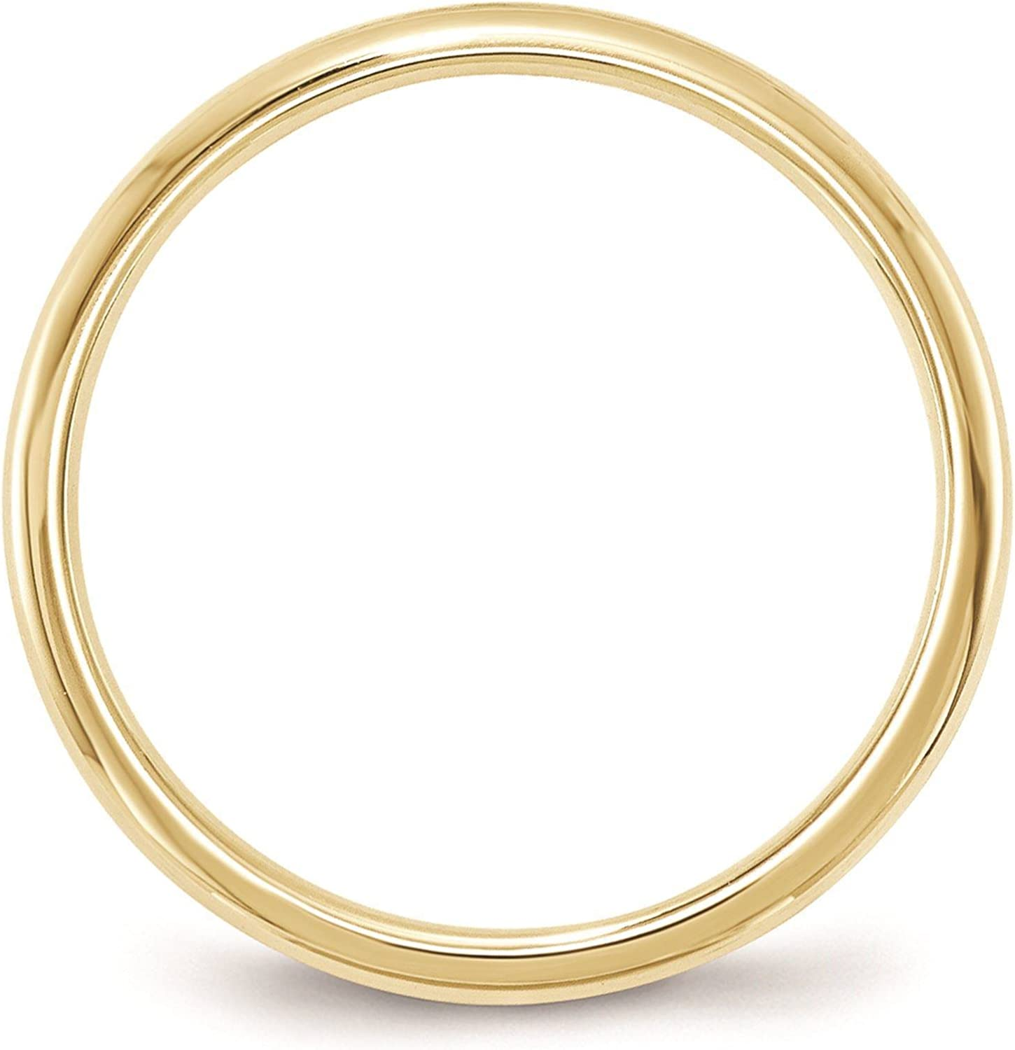 Full /& Half Sizes 10k Yellow Gold 2mm Standard Comfort Fit Wedding Ring Band Size 4-14