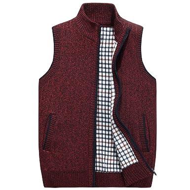 Pullover Plus Samt Warme Weste Pullover Weste Herren Gestrickte ...