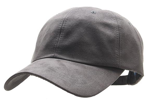 e2748a64d5b Men Blank Faux Suede Plain Baseball Cap XL XXL XXXL Big size Adjustable -  Grey -  Amazon.co.uk  Clothing