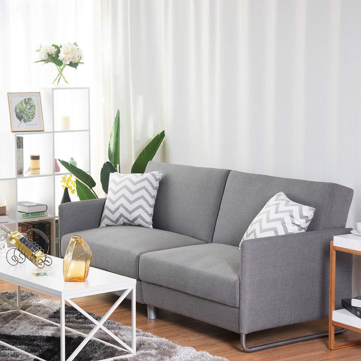 Amazon.com: Modern Futon Sofa Bed Convertible Recliner Couch ...