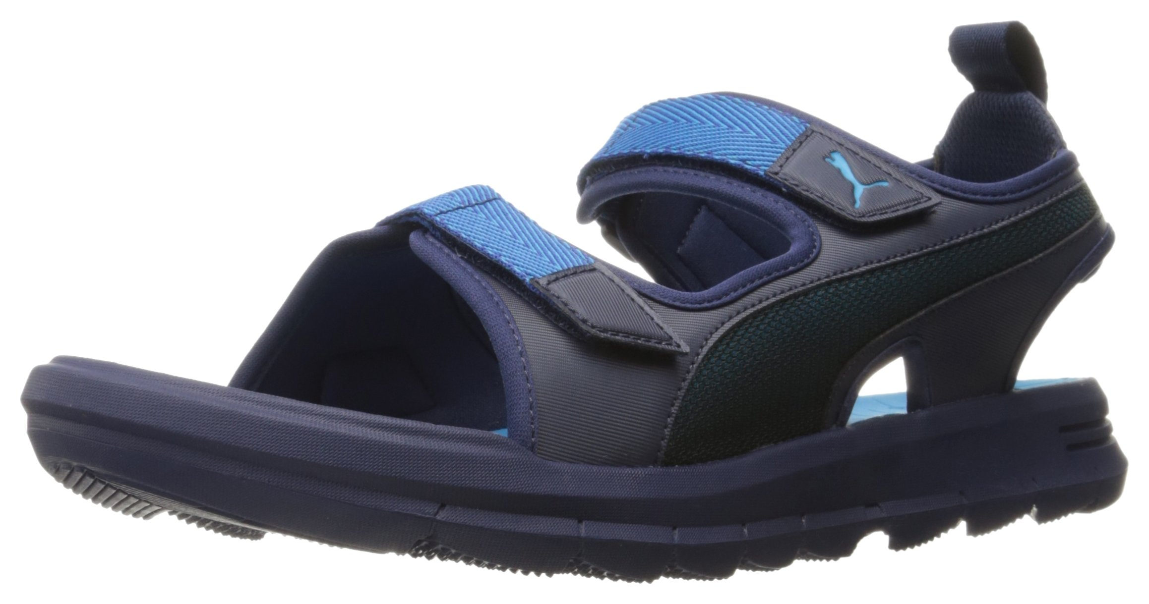 PUMA Men's Wild Plus Athletic Sandal, Peacoat-Blue Danube, 9 M US