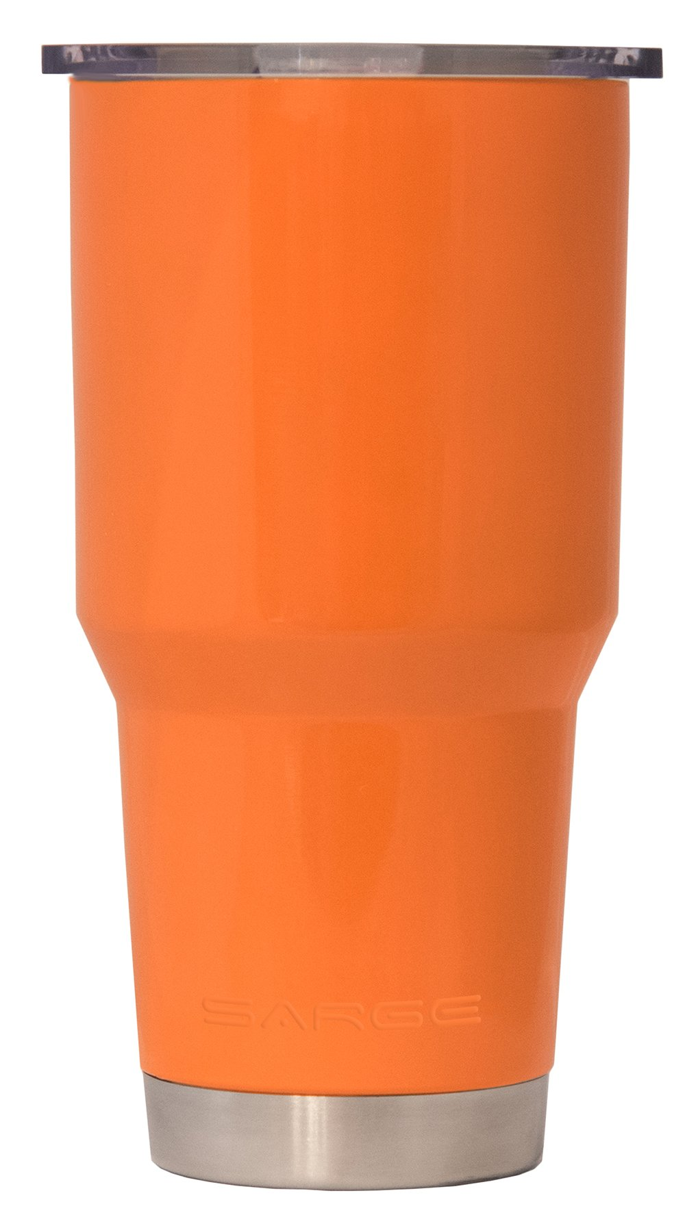Sarge Knives DC-30OR 30 oz Stainless steel Tumbler with Shatterproof Lid and Orange Desert Cup