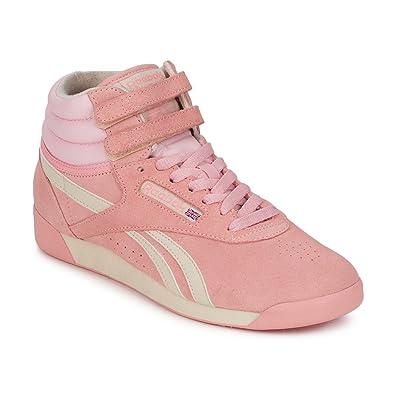 a5aeb5c40356f Reebok Classic Womens F S Hi Pastel Pink White Pure Silver Hi Top ...