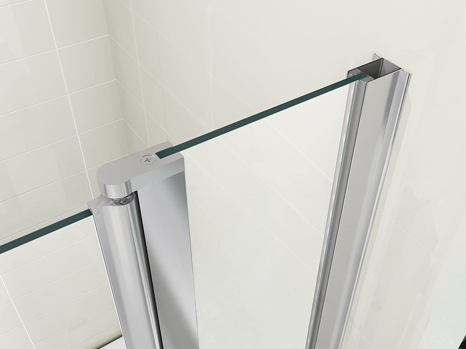 hnnhome 180 pivot double panel over bath shower screen 6 mm glass hnnhome 180 pivot double panel over bath shower screen 6 mm glass amazon co uk kitchen home