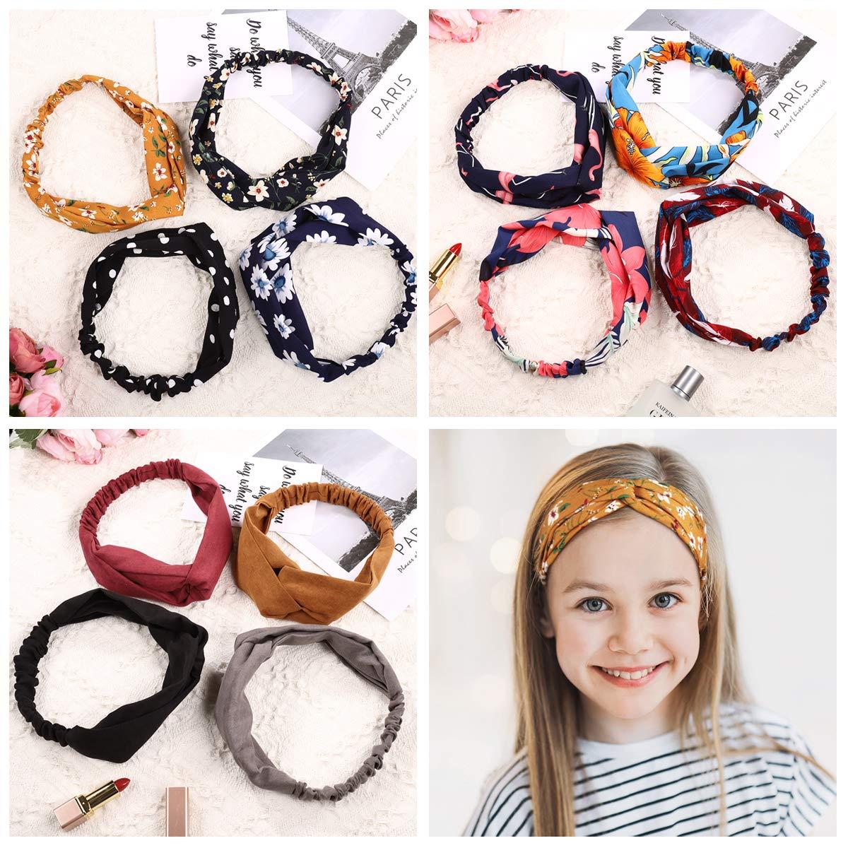 Head Wrap Headbands for Women Girls, Knot Headband Head Scarf Twisted Head Wrap 12Pcs