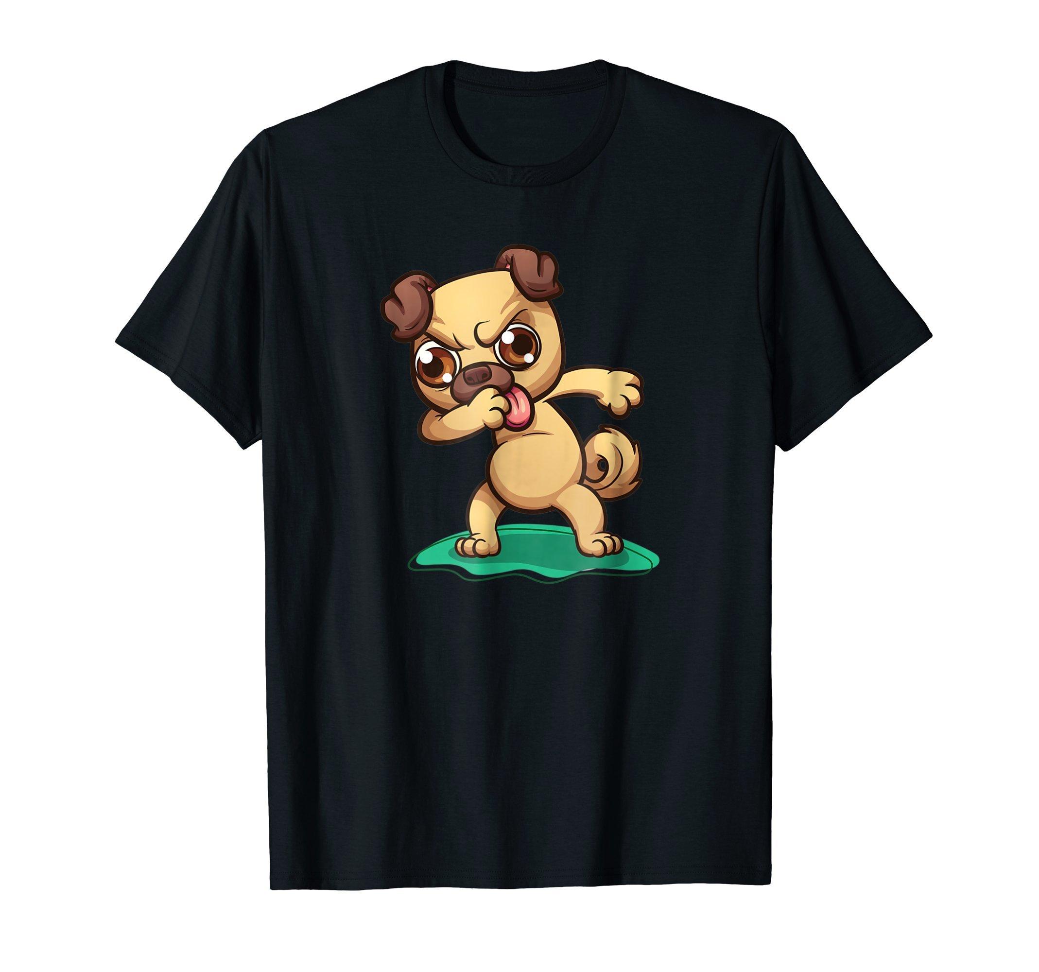 Dabbing-Pug-Funny-Humor-T-Shirt-Shirt-Tee-Gift