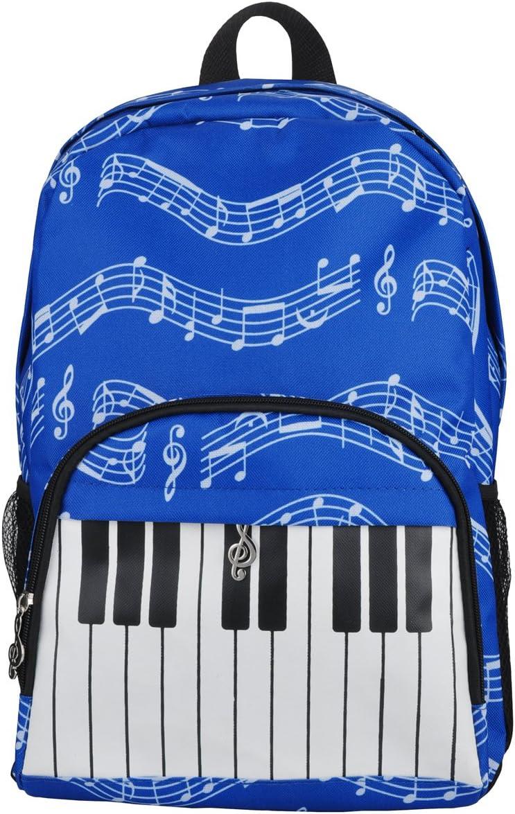 4/couleurs PUNK Sac /à dos d/'/écolier /à motifs de notes de musique Musical notes patterns black tissu Oxford