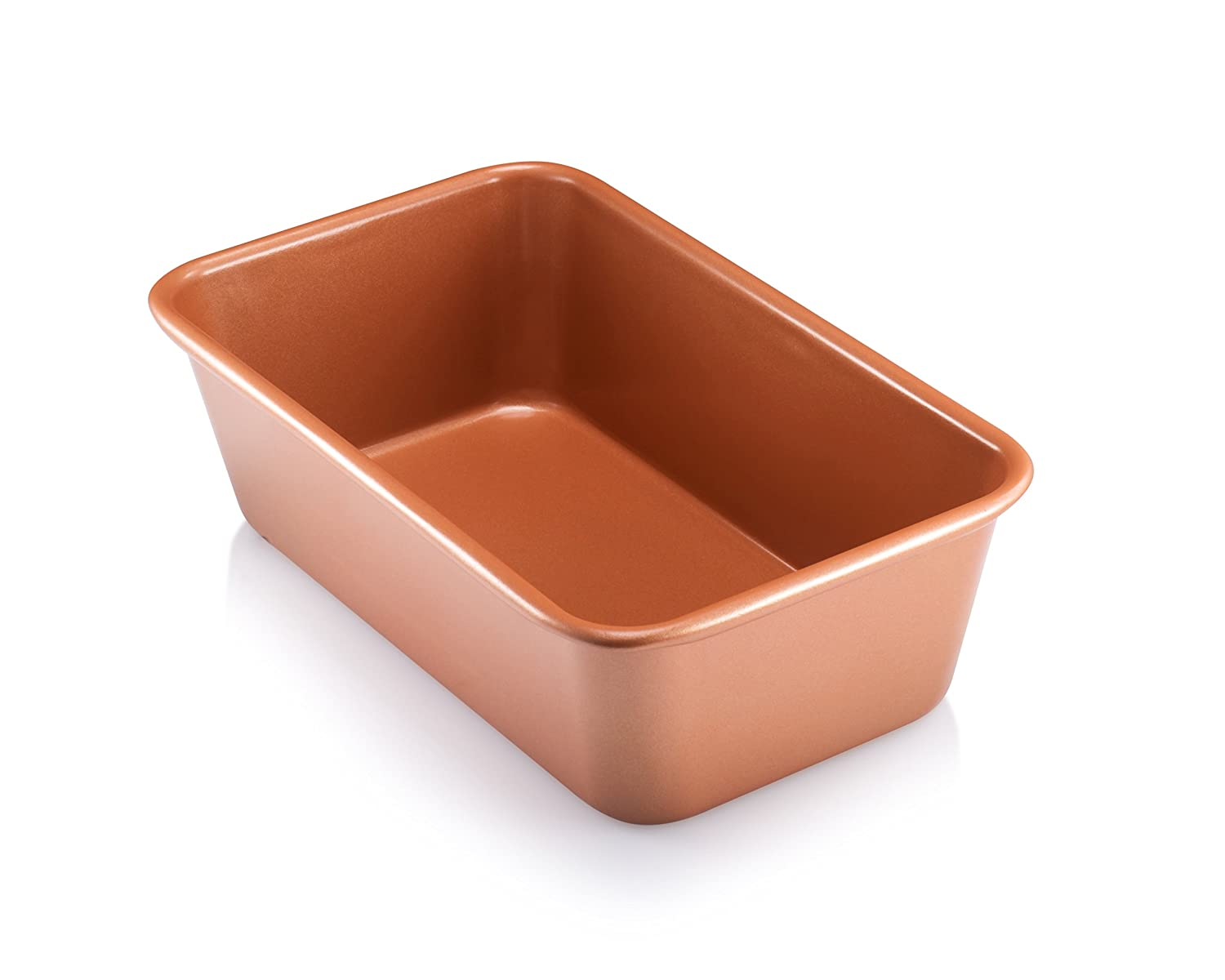 Gotham Steel Bakeware - Loaf Pan, 9 x 4 inch, with Nonstick Copper & Quick Release Coating 1362