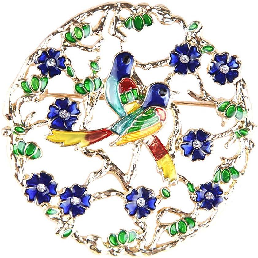 Cdet 1pc Broche Femmes Alliage D/écoration Broche pins Pour Manteau Robe V/êtements Mariage F/ête Cadeau Bijoux Corsage Ch/âle /Écharpe Ornement Style guirlande oiseau bleu