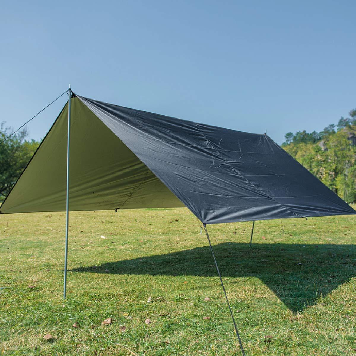 TRIWONDER Telo Tenda Tarp Targhetta Amaca Impermeabile Rain Fly Camping Tarp Impronta della Tenda 118 x118 Telo per Canopy Hammock Picnic
