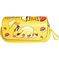HAMIQI Anime Cartoon Pokemon Pikachu Double Zipper Pencil Case My Neighbor Totoro Pencil Stationery Bag Student Supplies…