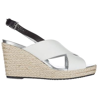 nouveau concept 53f85 fac1a Hogan compensées Escarpins Chaussures Sandales Femme Cuir ...