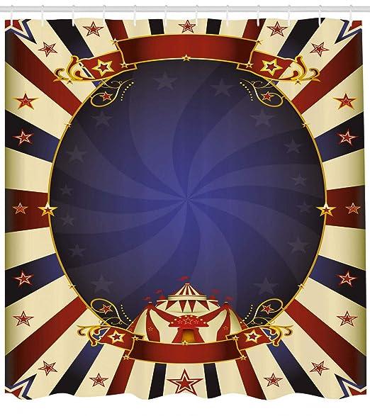 dsgrdhrty Imagen de Cartel de Circo Vintage Cortina de baño ...