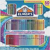 Elmer's Glue-All Multi-Purpose Liquid Glue Glitter Glue Pens Bundle Rainbow (50-Count)