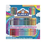 Amazon Price History for:Elmer's 2024201 Elmer's Rainbow Glitter Glue Pen Set, Assorted Colors, 0.356 Ounces Each, 50 Count - Great For Making Slime
