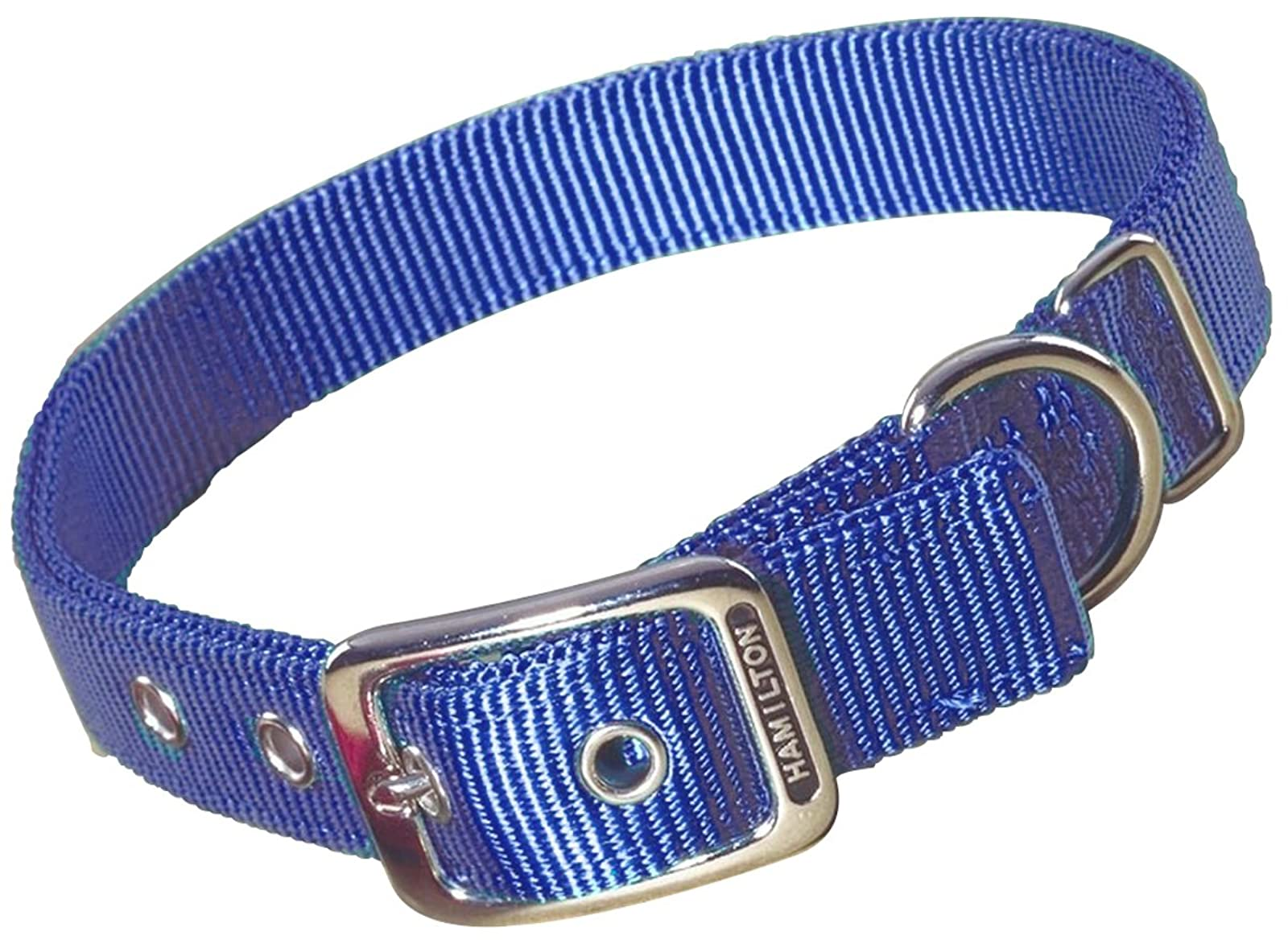 Hamilton Double Thick Nylon Deluxe Dog Collar DD 22BY - 1