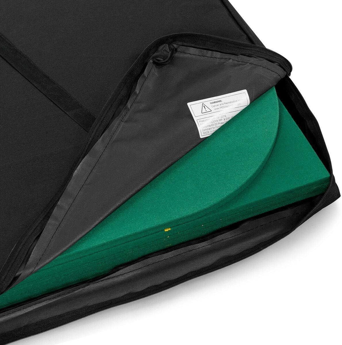 Giantex 8 Player Poker Mat Casino Blackjack Portable Rubber Non-Slip Poker Table Top w//Carrying Bag for Poker Games