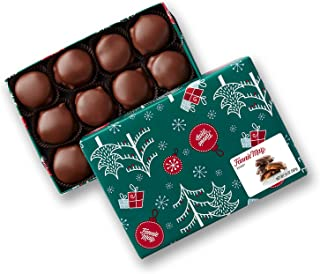 product image for Fannie May Holiday Wrap Pixies, Milk Chocolate Covered Caramel with Pecans, Christmas Candy Gift Box, 1 lb