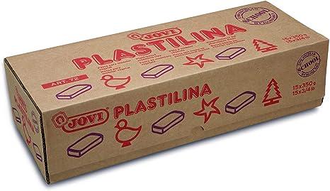 Jovi - Caja de plastilina, 15 pastillas 350 gr, color blanco (7201): Amazon.es: Juguetes y juegos