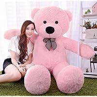 Toyhub Huggable Teddy Bear With Neck Bow (122 Cm Pink) - 4 Feet