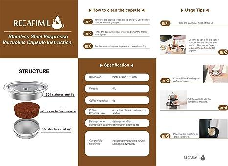 Amazon.com: Cápsulas de café recargables de acero inoxidable ...
