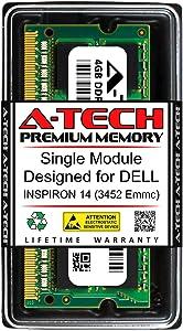 A-Tech 4GB RAM for DELL INSPIRON 14 (3452 EMMC) | DDR3 1600MHz SODIMM PC3-12800 204-Pin Non-ECC Memory Upgrade Module