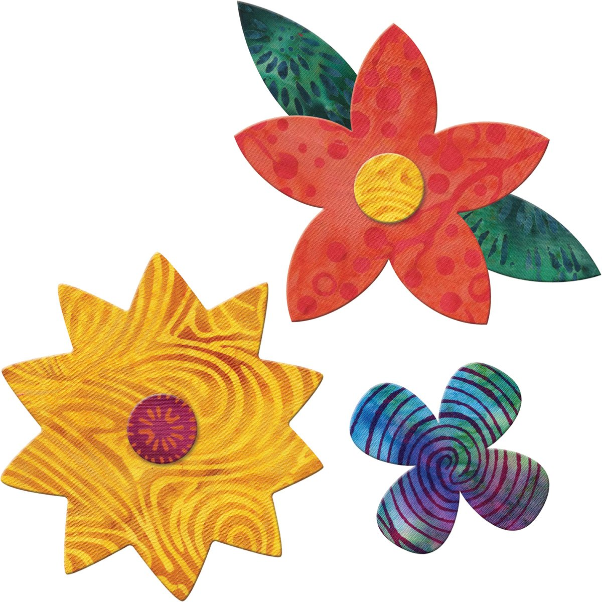 Go! Fabric Cutting Dies-Flower Bunch 3 Sizes