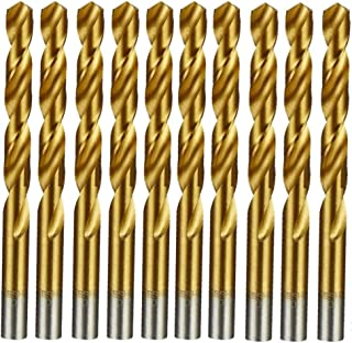 Box of 10 x 12mm HSS M2 Fully Ground Jobber Drill Bit Tin Titanium Nitride Coated DIN338 Standard (12mm x 142mm)