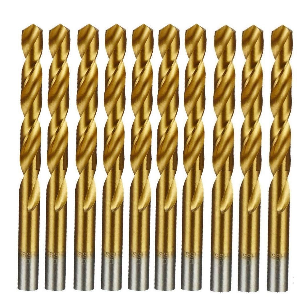 UK Drills 7.0mm HSS Titanium Coated Twisted Drill Bit Jobber Steel Wood Plastic