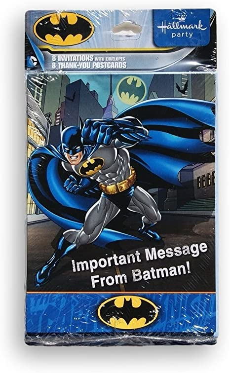Justice League Comic Digital Party invitation birthday or thank you card Batman
