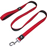 Kruz Premier 5ft Dog Mesh Leash - KZA1160-14XS - Lightweight, Breathable, Comfort Puffy Mesh Leash - Secure Dual-Layered Tang