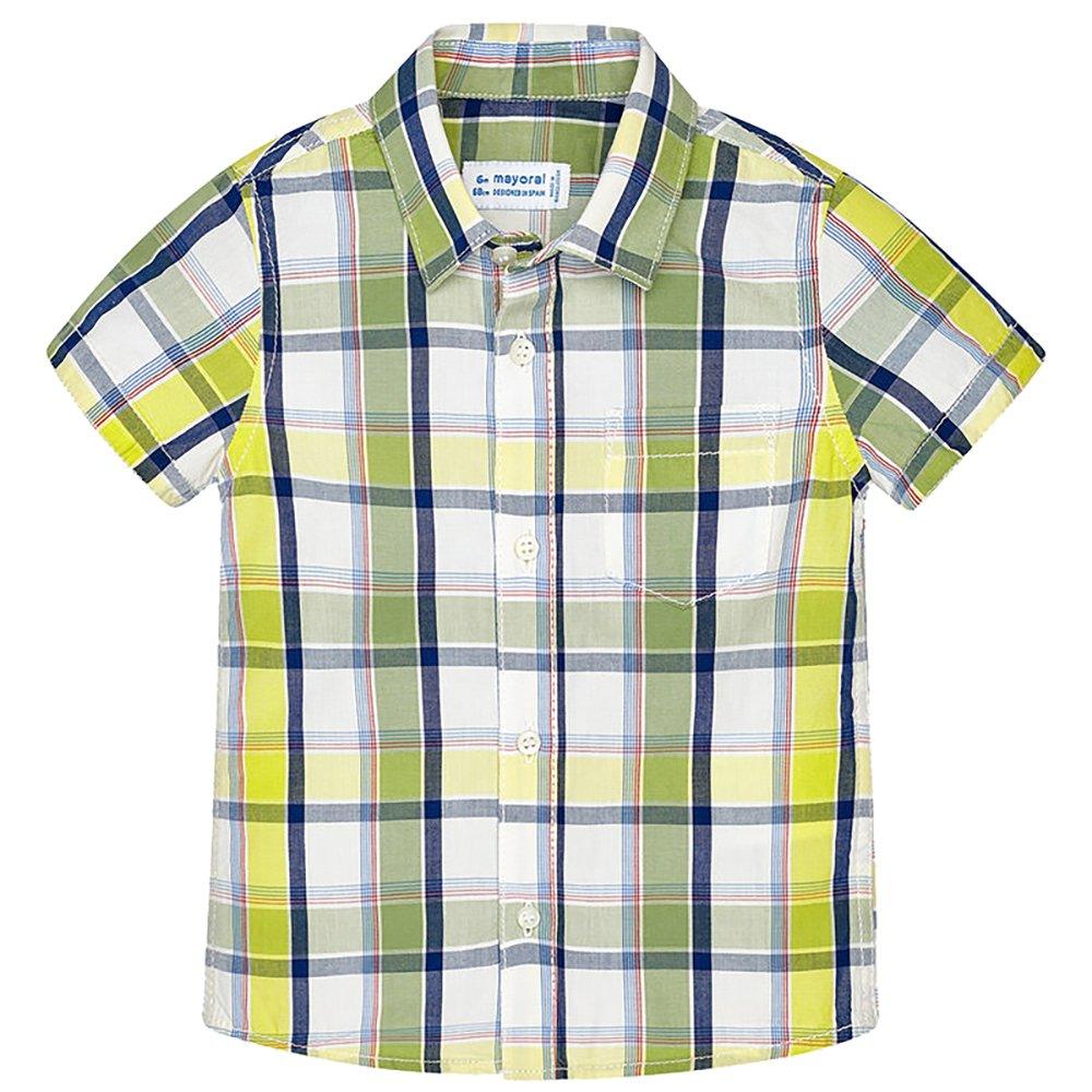 Mayoral Cute Stylish Plaid Poplin Short Sleeve Shirt