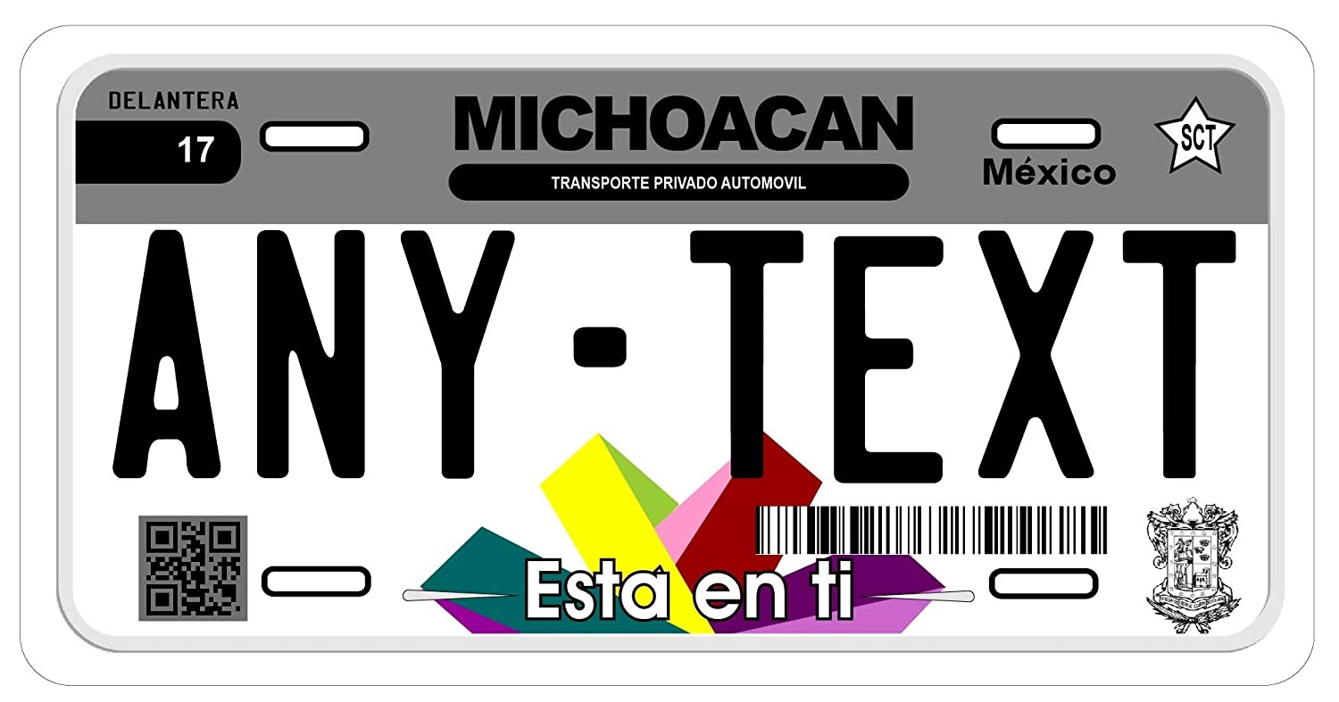 Amazon.com: Michoacan Mexico Placas License Plate: Car ...
