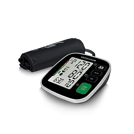 Medisana BU 546 connect Tensiómetro para el brazo con manguito grande, pantalla de arritmia, escala de colores de la OMS para una medición precisa de ...