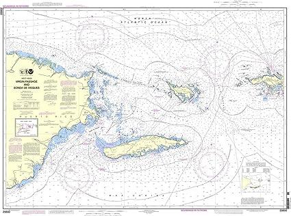 NOAA gráfico 25650: Virgen de paso y sonda de Vieques ...