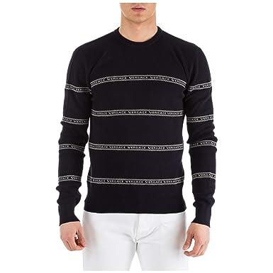 prix le plus bas une grande variété de modèles expédition gratuite Versace Homme Pull blu 46 EU: Amazon.fr: Vêtements et ...