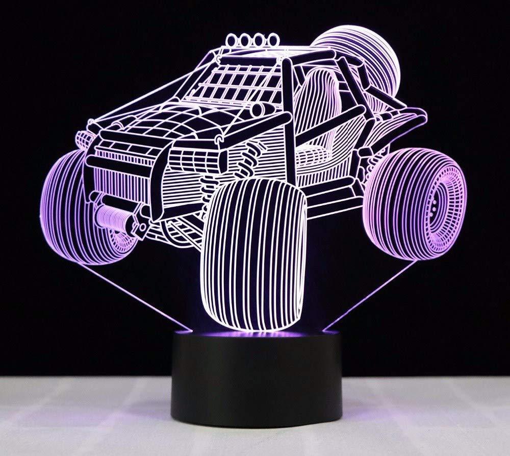 3D Nachtlicht Kühle 3D SUV Auto Nachtlampe Visuelle Led Nachtlichter USB 3D Lichter Bunte Touch Baby Schlafzimmer 7 Farben Nachtlicht Kreatives Geschenk LED-Lichtquellen
