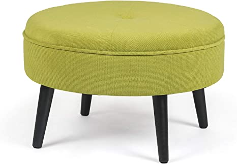 Small under desk Footstool with button  small footstool  upholstered footstool foot stool  handmade footstool stool footrest