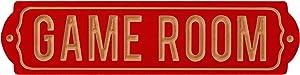 "Barnyard Designs Retro Game Room Wood Bar Sign, Vintage Wall Art Gaming Room Decor, 17"" x 4.25"""