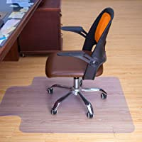 Q&Z PVC Chair Mat,1.5mm Thick Home Office Transparent Chair Cushion with Lipped Spiked Back Non-Slip Computer Chair Carpet Floor Mat for Hard Floor