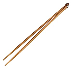 "IMUSA USA WPAN-10012 4-Pair 13"" Bamboo Cooking Chopsticks, Brown"