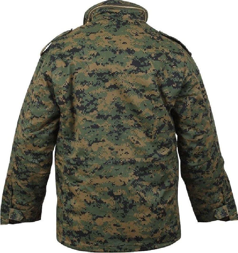 8b51f6d7870bc Amazon.com: Bellawjace Clothing Woodland Digital Camouflage USMC Military  M-65 Field Jacket Coat With Liner: Clothing